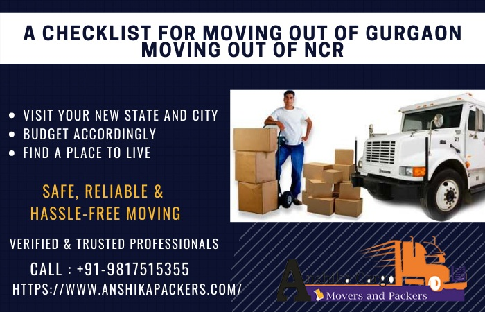 A Checklist for Moving out of Gurgaon Moving out of NCR